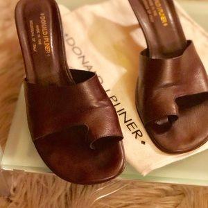 Donald J. Pliner Shoes - Donald Pliner Chocolate Toe Ring Sandal